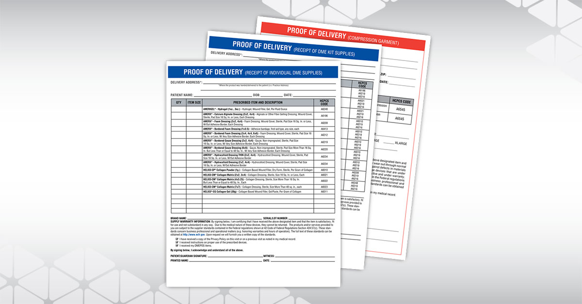 Proof of Delivery Forms