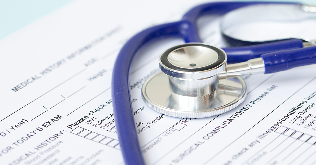 Document and stethoscope