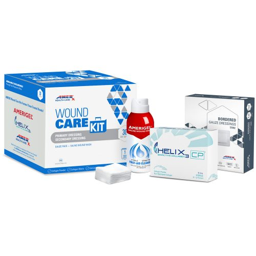 AMERX Collagen Powder 30-Day Wound Care Kit with 4x4 Bordered Gauze