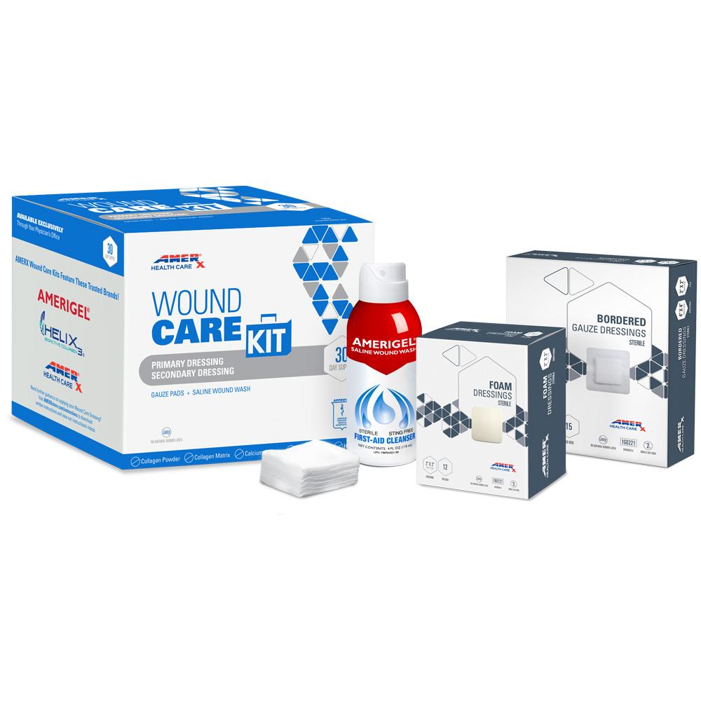 AMERX Foam Dressing 30-Day Wound Care Kit