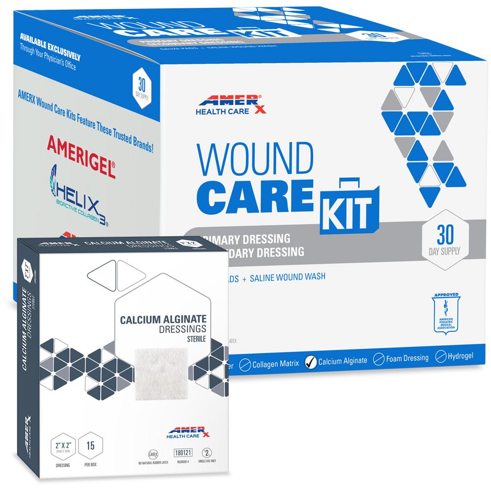 AMERX Calcium Alginate 30-Day Wound Care Kit