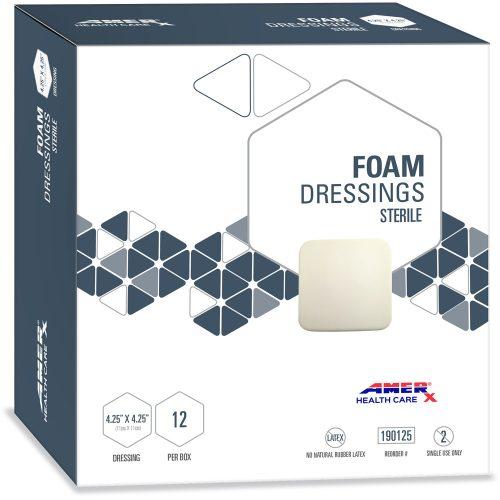 AMERX Foam Dressing - 4.25 x 4.25