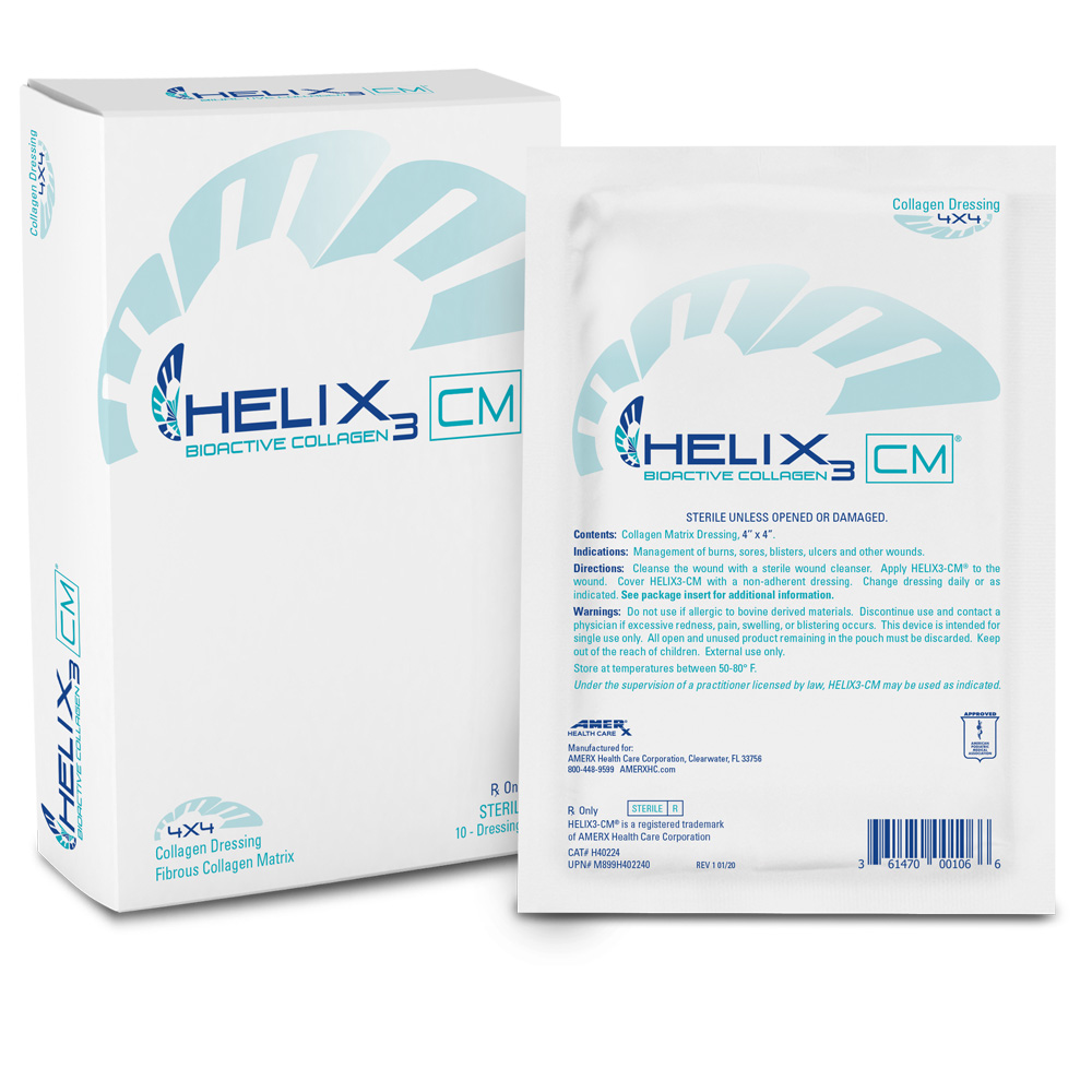 HELIX3-CM Collagen Matrix - 4x4