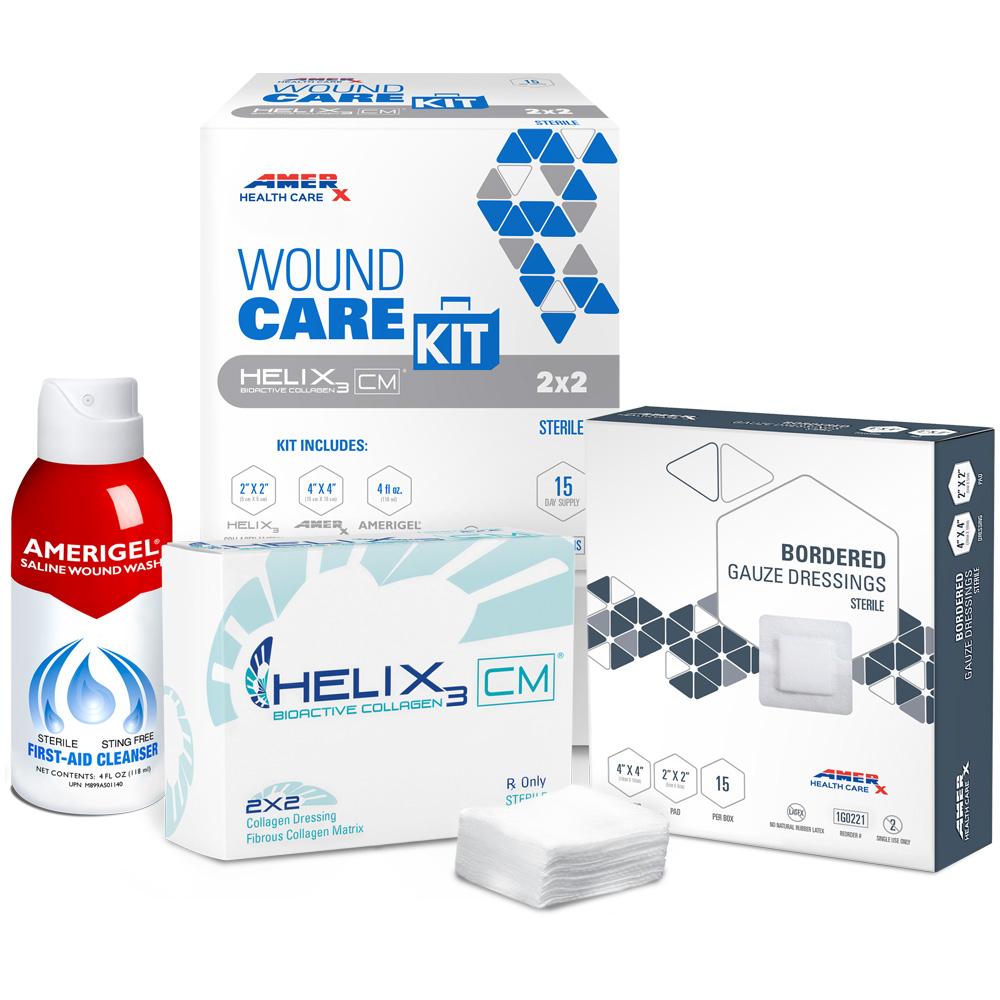 AMERX Collagen Matrix 15-Day Wound Care Kit