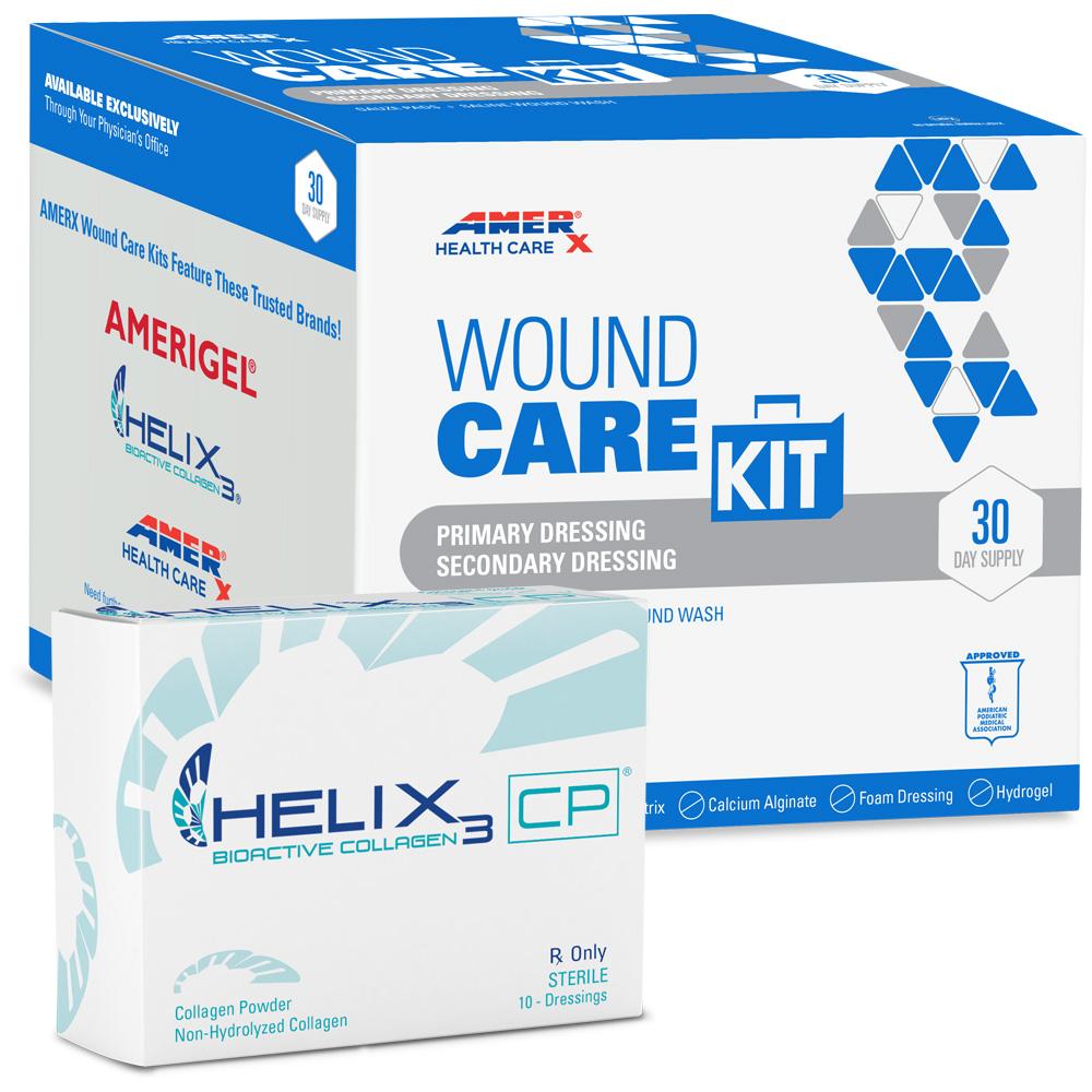 AMERX Collagen Powder 30-Day Wound Care Kit