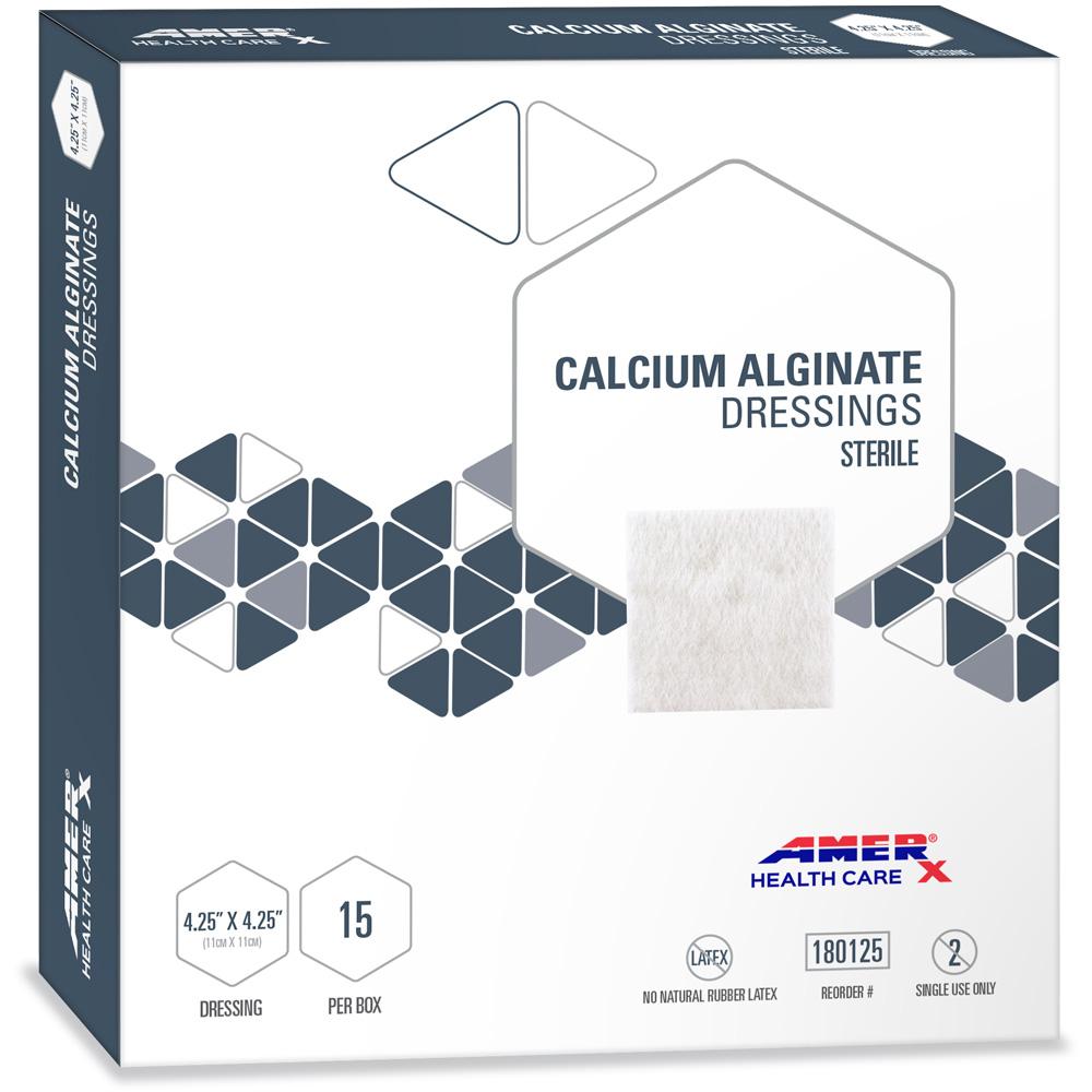 AMERX Calcium Alginate - 4.25 x 4.25