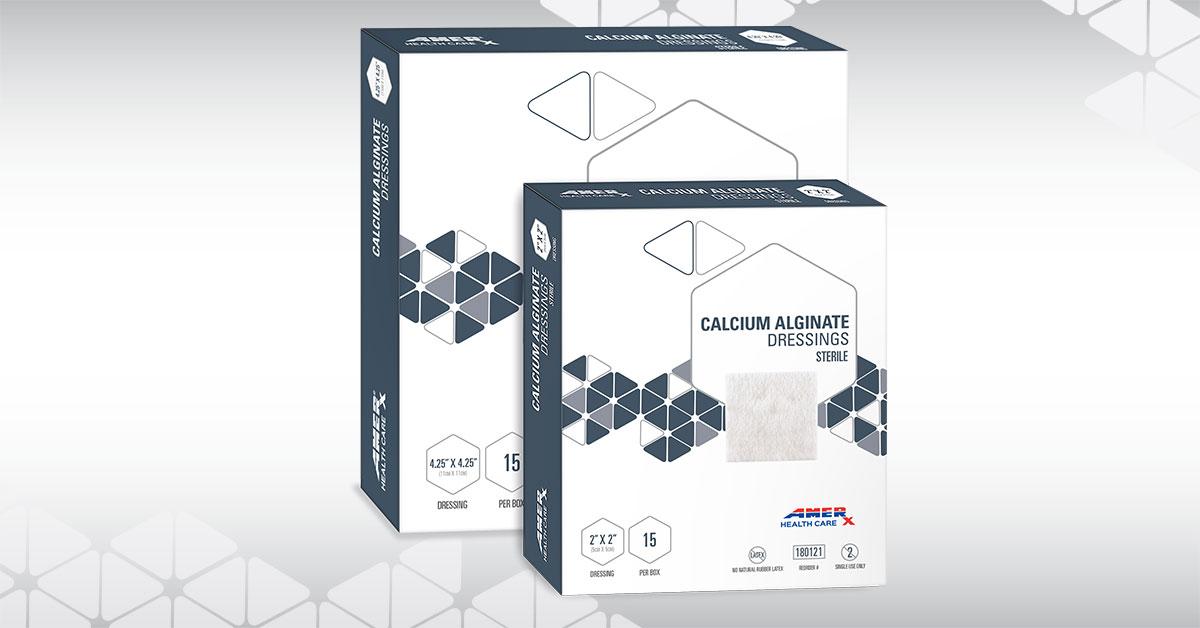AMERX Calcium Alginate Group Shot