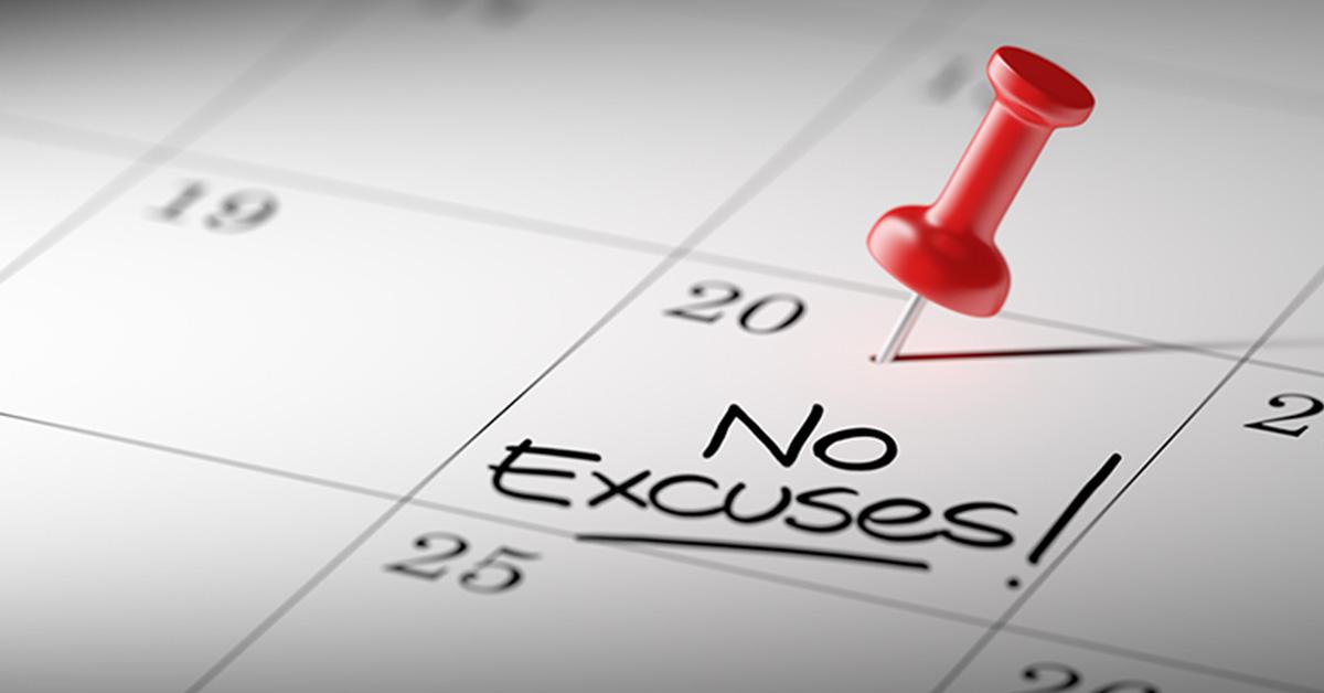 No Excuses Calendar