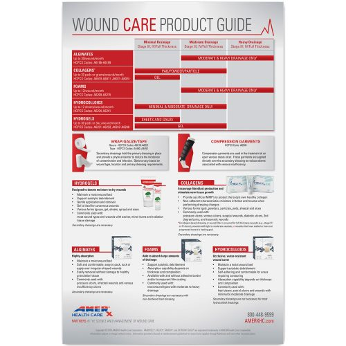 Wound Care Product Guide Poster