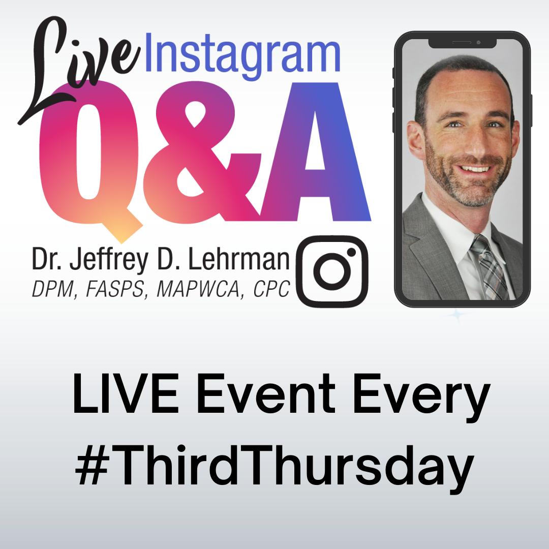 LIVE Event: Third Thursday Instagram LIVE